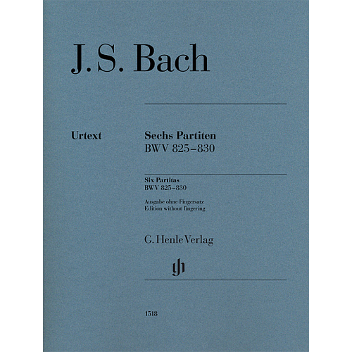 Sechs Partiten BWV 825-830 (without fingering)